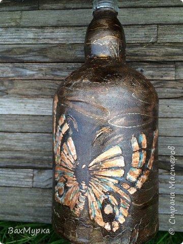 Стеклянная тарелка. Двухсторонний декор. петушок вживлен на поталь методом МОРДОЙВЛАК. Имитация окисления.  фото 5