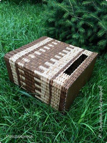 Всем привет. Очередное творение в декрете )))) корзина для полиэтиленовых пакетов.   фото 2