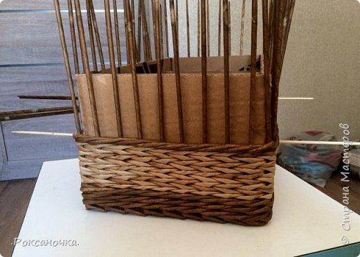 Всем привет. Очередное творение в декрете )))) корзина для полиэтиленовых пакетов.   фото 16