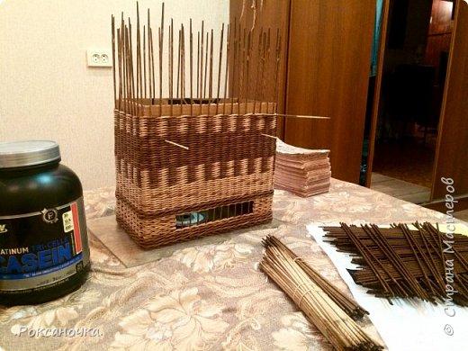 Всем привет. Очередное творение в декрете )))) корзина для полиэтиленовых пакетов.   фото 21