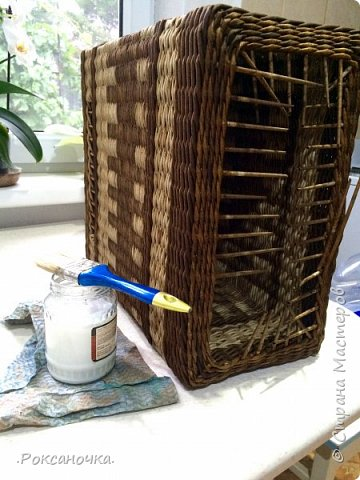 Всем привет. Очередное творение в декрете )))) корзина для полиэтиленовых пакетов.   фото 23