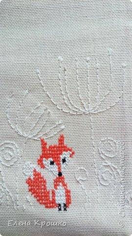 В ожидании приезда старшей на каникулы сшила чехол для планшета с ее любимым лисом. фото 4