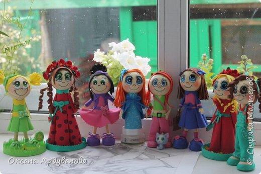 Еще не немножко куколок из фоамирана!!! фото 9