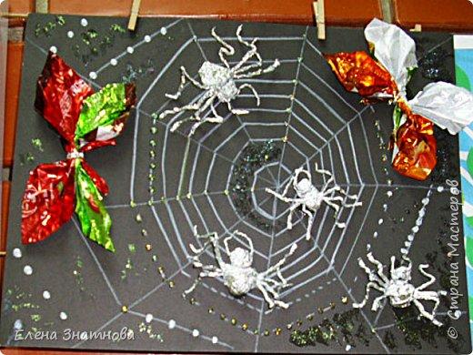 """""""Лесная поляна"""" Рисование фона, мозаика грибов из круп, аппликация гербарием. фото 6"""