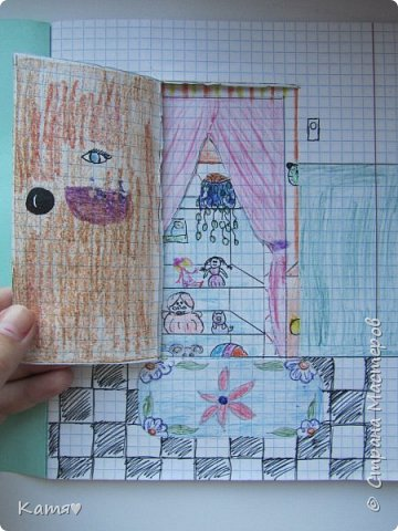Это вход в квартиру моей куклы, справа от двери весит звонок. фото 1