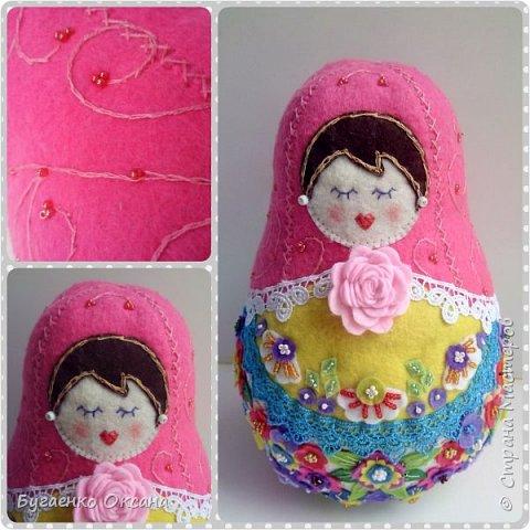 Текстильная кукла - матрешка фото 1