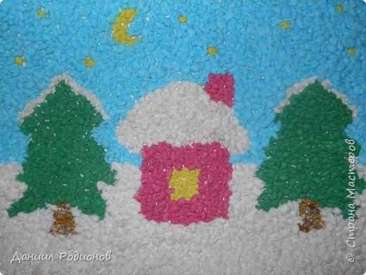 Мозаика из комочков салфеток. фото 1
