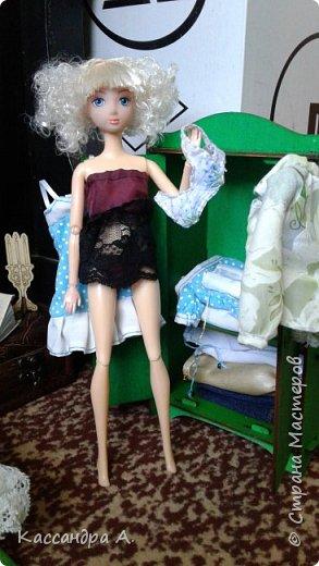 Дорогие друзья, предсставляю вам три комплекта нижнего белья для кукол. Моей моделью будет Даниэлла, прекрасная белокурая нимфа. фото 7