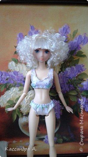 Дорогие друзья, предсставляю вам три комплекта нижнего белья для кукол. Моей моделью будет Даниэлла, прекрасная белокурая нимфа. фото 10