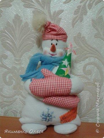 Новогодний снеговичок!