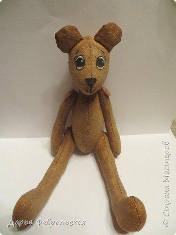 Приветствую жителей Страны Мастеров! Этот  мишка был сделан на день рождение подруге и уже уехал к ней домой) фото 2