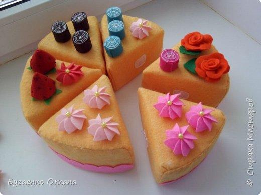 Торт из фетра фото 2