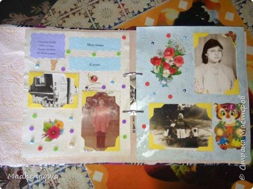 наша обложка сделана из папки-регистратора, ткани и синтепона фото 4