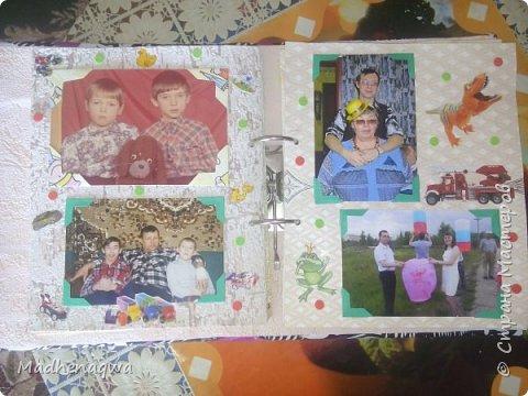 наша обложка сделана из папки-регистратора, ткани и синтепона фото 7