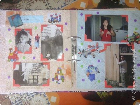 наша обложка сделана из папки-регистратора, ткани и синтепона фото 8