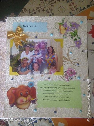 наша обложка сделана из папки-регистратора, ткани и синтепона фото 15