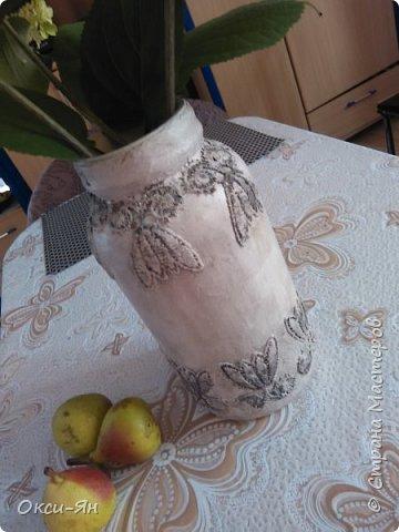 Из банки попробовала сделать вазу,муж сразу приватизировал фото 2