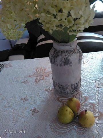 Из банки попробовала сделать вазу,муж сразу приватизировал фото 1