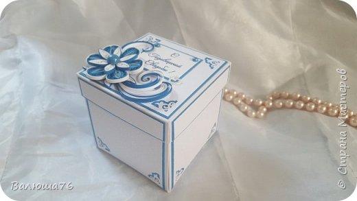 Добрый день дорогие гости моей странички! Хочу показать Вам коробочку. Попросили сделать в синих тонах. Жду  ваших отзывов. Приятного просмотра. фото 1