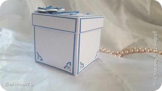Добрый день дорогие гости моей странички! Хочу показать Вам коробочку. Попросили сделать в синих тонах. Жду  ваших отзывов. Приятного просмотра. фото 2