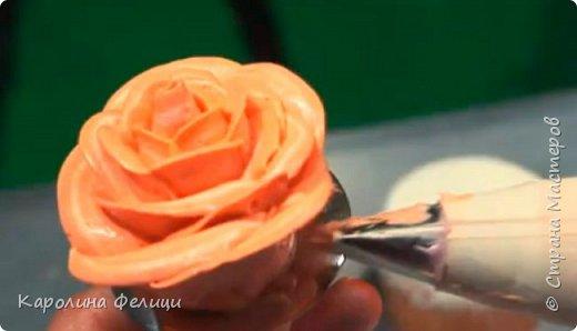 Как сделать розу из масляного крема