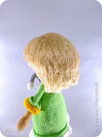 Доброго всем дня, дорогие друзья!Вот решила показать своих куколок, из последнего. Эту милую девчушку вязала по описанию  Юлии Шеенко. Очень уж она мне понравилась, захотелось связать такую светлую девочку. фото 2