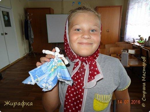 Народная куколка-девочка. фото 3