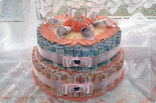 Вот такой чудесный тортик получился в подарок на свадьбу! фото 1