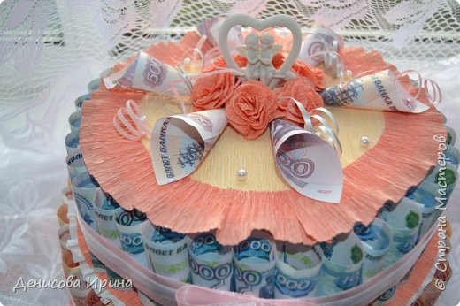 Вот такой чудесный тортик получился в подарок на свадьбу! фото 2