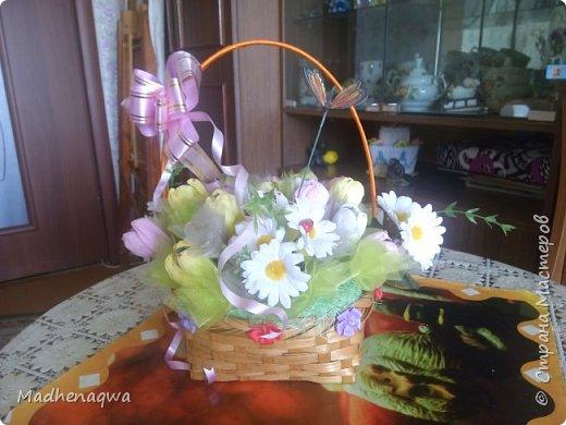 Корзина цветов  фото 2