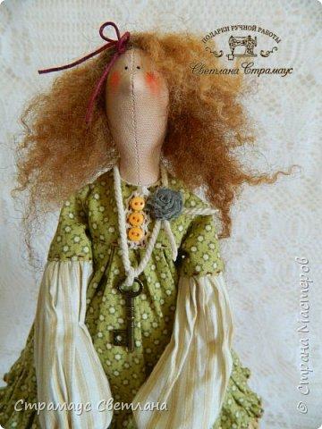 Доброго времени суток, всем кто заглянул! Моя новая куколка, на этот раз Тильда-садовница, с корзинкой яблок. фото 2