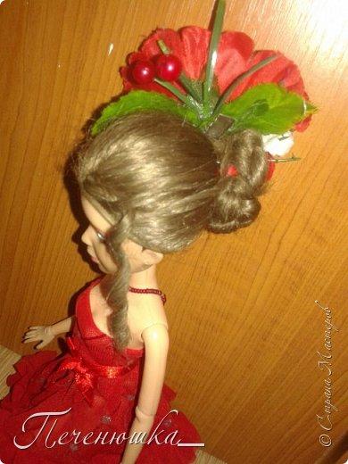 """Всем привет!!! Сегодня я к  вам с работой на конкурс """"Мисс июль"""" . Для конкурса я сшила красное платье. на данный образ меня натолкнула моя заколка, которую я случайно нашла в шкафчике, и тогда я решила, сделать девушку в образе алого цветка - мака.  фото 3"""
