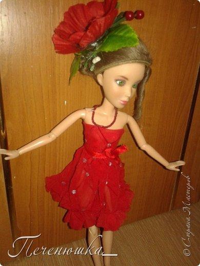 """Всем привет!!! Сегодня я к  вам с работой на конкурс """"Мисс июль"""" . Для конкурса я сшила красное платье. на данный образ меня натолкнула моя заколка, которую я случайно нашла в шкафчике, и тогда я решила, сделать девушку в образе алого цветка - мака.  фото 4"""