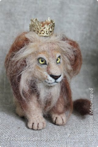 Лев из шерсти. фото 1
