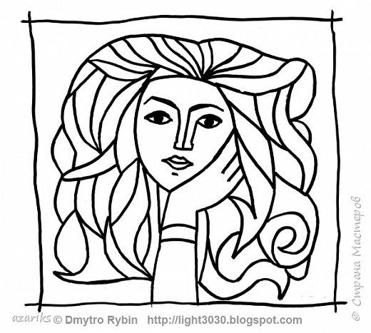 Раскрашиваем фломастерами портрет по мотивам рисунка Пабло Пикассо. Процесс творческий и арттерапевтический. фото 2