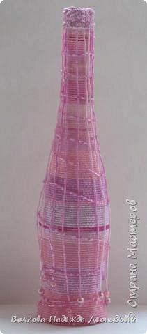 Оплетённые вазы, бутылки, шкатулки. фото 1