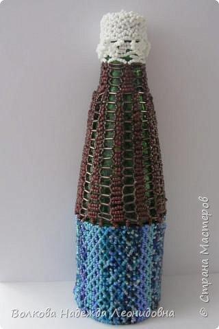 Оплетённые вазы, бутылки, шкатулки. фото 4