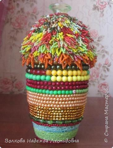 Оплетённые вазы, бутылки, шкатулки. фото 3