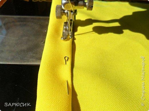 Здравствуй Страна Мастеров! Сегодня я покажу как сделать вот такой мешочек для вещей.(извените за качество фото-ткань очень яркая) Материалы: ткань шнурок нитки по цвету машинка фото 6