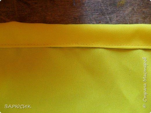 Здравствуй Страна Мастеров! Сегодня я покажу как сделать вот такой мешочек для вещей.(извените за качество фото-ткань очень яркая) Материалы: ткань шнурок нитки по цвету машинка фото 7