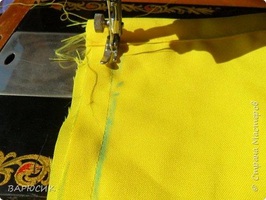 Здравствуй Страна Мастеров! Сегодня я покажу как сделать вот такой мешочек для вещей.(извените за качество фото-ткань очень яркая) Материалы: ткань шнурок нитки по цвету машинка фото 8