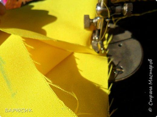 Здравствуй Страна Мастеров! Сегодня я покажу как сделать вот такой мешочек для вещей.(извените за качество фото-ткань очень яркая) Материалы: ткань шнурок нитки по цвету машинка фото 9