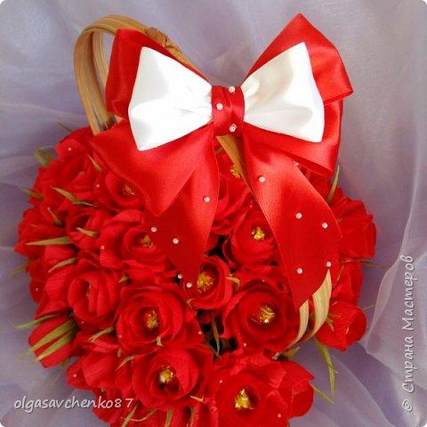 Как всегда у меня корзина....и в ней не меньше 35 конфетных цветочков.... фото 1