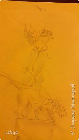 Начнём с того что идея взята у моего любиного художника MICHAELA PARKESA фото 3