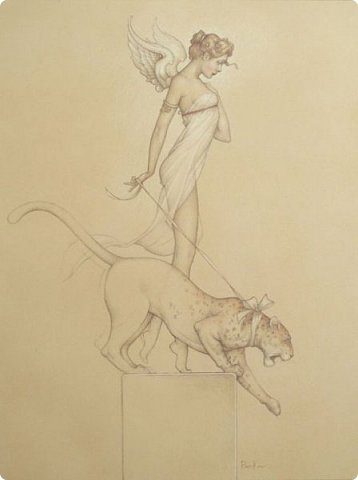 Начнём с того что идея взята у моего любиного художника MICHAELA PARKESA фото 2