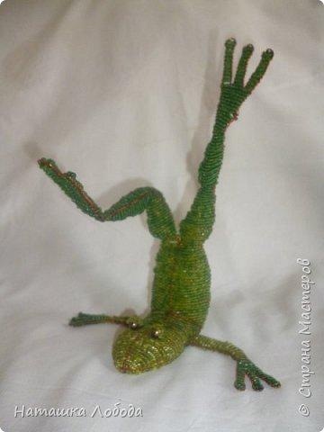 мой лягушатник из бисера на каркасе фото 7