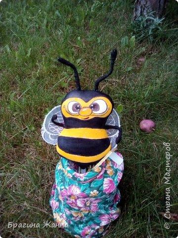 всем жителям замечательной страны огромный привет!!!!!сегодня я к вам с милыми пчелками))))как то в онлайн был бесплатный мк замечательной мастерицы Людмилы Набиуллиной  ,но я как всегда на него опоздала (((((((((((и смогла увидеть только фото  готовой пчелки где можно было заказть чтоб купить мк)))но покупать у меня нет возможности))а фантазия и руки есть)))посмотрела на картинку и создала своих пчелок!за что огромноеееееееееееееее спасибочки прекрасной мастерицы за чудесную замечательную идею!!!!! и так приглашаю вас в пчелиный рой))))))))))))))))))))) фото 10
