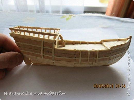 Вашему вниманию предлагается каравелла Нинья, одно из судов Колумба. Процесс изготовления тот же, что и в моей работе по созданию китайской Джонки. Во всех моих работах покупается только клей и краски. Остальные материалы - это как правило отслуживший деревянный мусор :-) фото 12