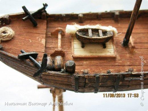 Вашему вниманию предлагается каравелла Нинья, одно из судов Колумба. Процесс изготовления тот же, что и в моей работе по созданию китайской Джонки. Во всех моих работах покупается только клей и краски. Остальные материалы - это как правило отслуживший деревянный мусор :-) фото 20