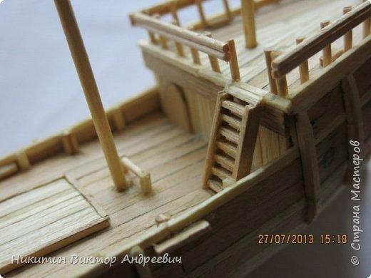 Вашему вниманию предлагается каравелла Нинья, одно из судов Колумба. Процесс изготовления тот же, что и в моей работе по созданию китайской Джонки. Во всех моих работах покупается только клей и краски. Остальные материалы - это как правило отслуживший деревянный мусор :-) фото 14